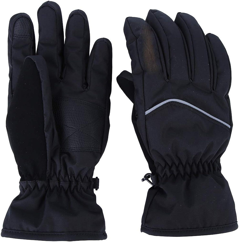 Llsdls Ski-Fustlinge, Touchscreen-Handschuhe, Atmungsaktive, Rutschfeste Fustlinge , für Camping Wandern Radfahren Reiten Motorrad Radfahren Jagd (Farbe   Schwarz, gre   L)