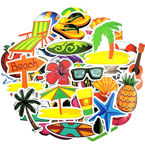 Summer Surfing Stickers To Decor Living Room Decor Travel Beach Surf Stickers For Kids Bedrooms Decoration 50 Pcs
