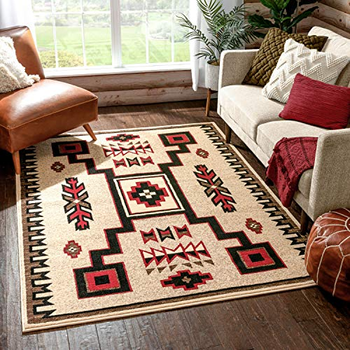 Well Woven Pembina Ivory Oriental Medallion Area Rug 3x5 (3