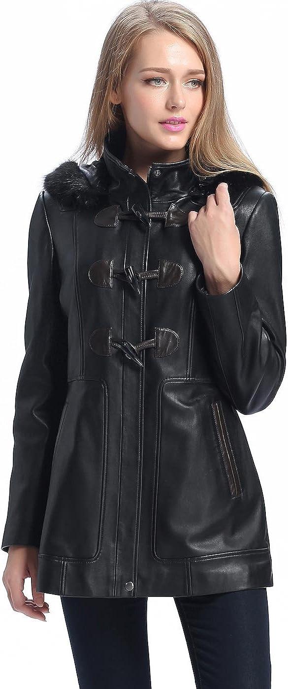 BGSD Women's Amanda Lambskin Leather Coat (Regular & Plus Size & Petite)