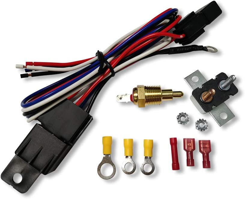 DEMOTOR PERFORMANCE Cooling Fan Relay All stores are sold Thermostat Tempera Low price Kit