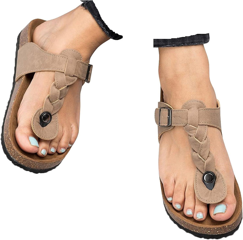 Womens Flip Flops Max 61% OFF T-Strap Flat Sandals Wide Cheap bargain Cute Woven Comfort L