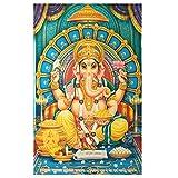 XL Poster Ganesha 145 x 95 cm blau türkis Gottheit