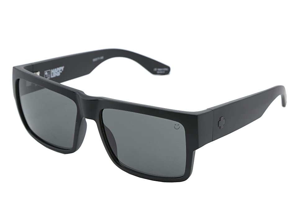 Spy Optic Cyrus (Matte Black Happy Grey Green) Sport Sunglasses