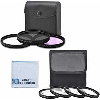 AG-DVX100B 3-CCD Mini-DV 72mm High resolution Pro series Multi Coated HD 3 Pc Digital Filter Set 72mm Pro Series 4pc HD Macro Close Up Filter Set +1 +2 +4 +10 For Panasonic AG-HPX250 AG-HPX255 P2 HD eCost Microfiber Cleaning Cloth