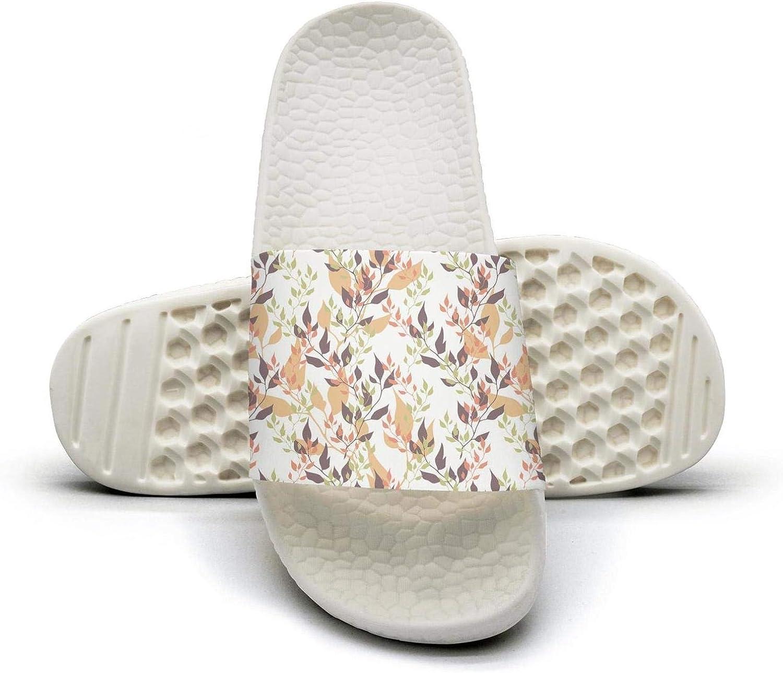 Womens colorful Tea Tree Leaves Slip on Beach Sandals and Anti-Slip Shower Slipper Comfort Sandals