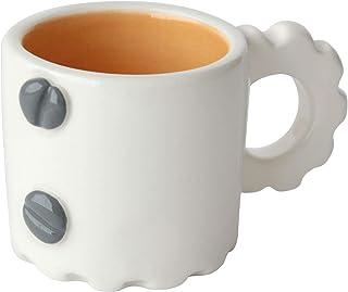 Taza de café con diseño mecánico, Más colores disponibles, Mango de engranaje, Cerámica artesanal, Hecho en Italia – 90ml ...