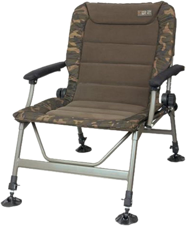 Fox R2 Camo Chair Angelstuhl, Anglerstuhl, Karpfenstuhl, Campingstuhl, Stuhl zum Angeln für Angler