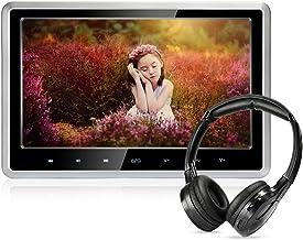 Lecteur DVD de Voiture avec écouteurs sans Fil, 10,1 Pouces HD Appui-tête Lecteur de..