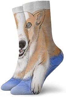 tyui7, Calcetines de compresión antideslizantes Corgi lindos Calcetines deportivos acogedores de 30 cm para hombres, mujeres, niños