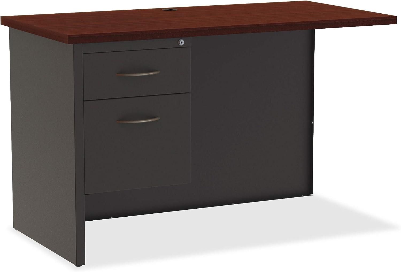 Lorell Mahogany Laminate Charcoal Modular Desk Return Series Louisville-Jefferson County Mall Virginia Beach Mall