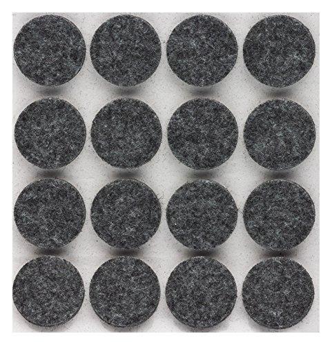 peha Filzgleiter - Filzunterleger selbstklebend - 5 mm dick, rund 22 mm, grau (160 Stück)