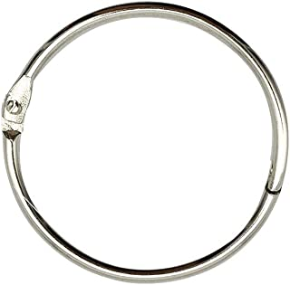 Loose Leaf Binder Rings 1-Inch(100 Pack) Office Book Rings, Nickel Plated Steel Binder Rings, Key Rings, Metal Book Rings, for School,Sliver