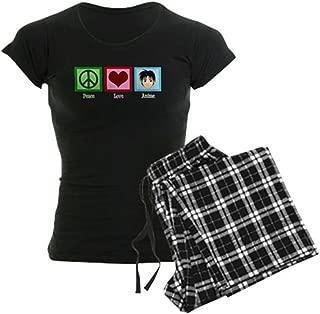 Peace Love Anime Women's Dark Pajamas Women's PJs - coolthings.us