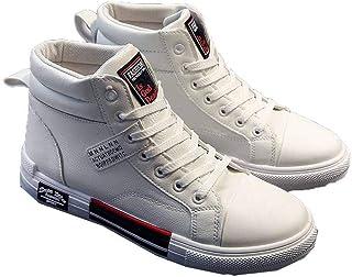 Sneakers Uomo Impermeabili Allacciate Scarpe da Ginnastica Alte Piatte Sport all'Aria Aperta camminando Fitness Scarpe da ...
