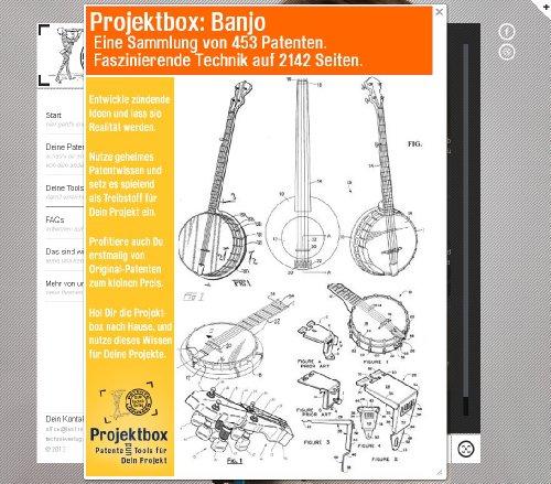 Banjo: Deine Projektbox inkl. 453 Original-Patenten bringt Dich mit Spaß hinter die Geheimnisse der Technik!
