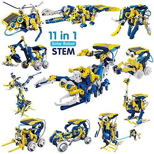JOYIN Solar Robot Toys 11 in 1 Educational STEM Learning Science Creation Solar Power Building Kit for Kids