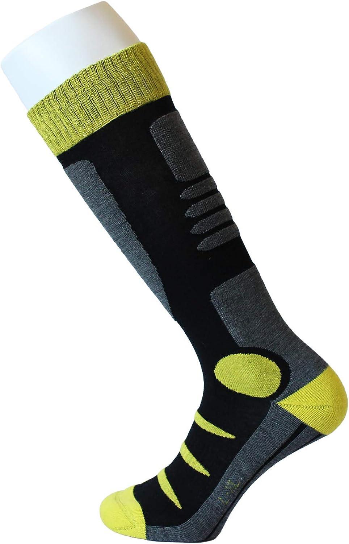 Feetalk Ski Snowboard Socks Thermal Merino Wool -Outdoor Activity Skiing Men's and Women's Socks