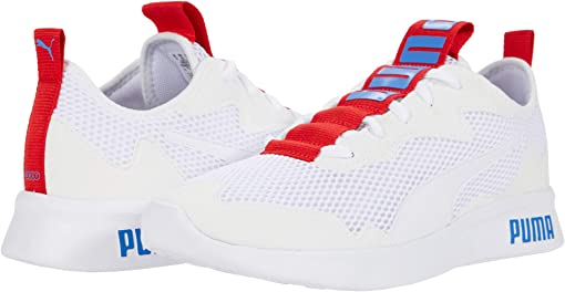 Puma White/Palace Blue/High Risk Red