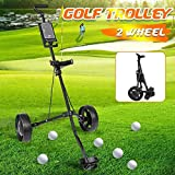 XBSLJ Chariot de Golf Chariot de Golf Caddy réglable 2 Roues Push Pull Chariot de Golf en Alliage d'aluminium Chariot Pliable avec Frein