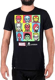 Tokidoki Marvel Line Up Men's Black T-Shirt