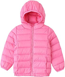 Elishow Baby Boys Girls Down Jackets Coat Lightweight Outerwear Packable Hooded Puffer Jacket