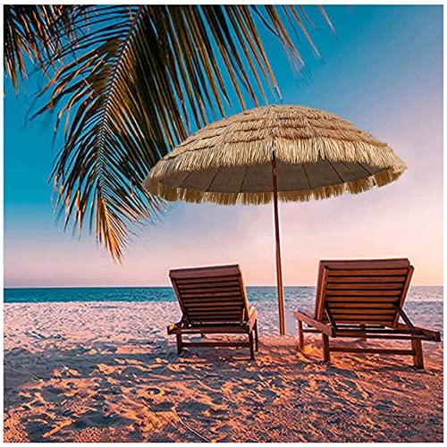 Y&J 1,8 M Parasol Terraza Bar, Redondo Sombrilla Jardin Exterior, Parasol Playa Plegable, para Piscina/Balcón/Mesa/Vacaciones, con Inclinación
