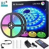 12M(6Mx2) Tira LED RGB, NOVOSTELLA Luces LED Habitacion 24V 360 LEDs Tiras Luces Adhesiva Multicolor SMD5050 con RF Control Remoto...
