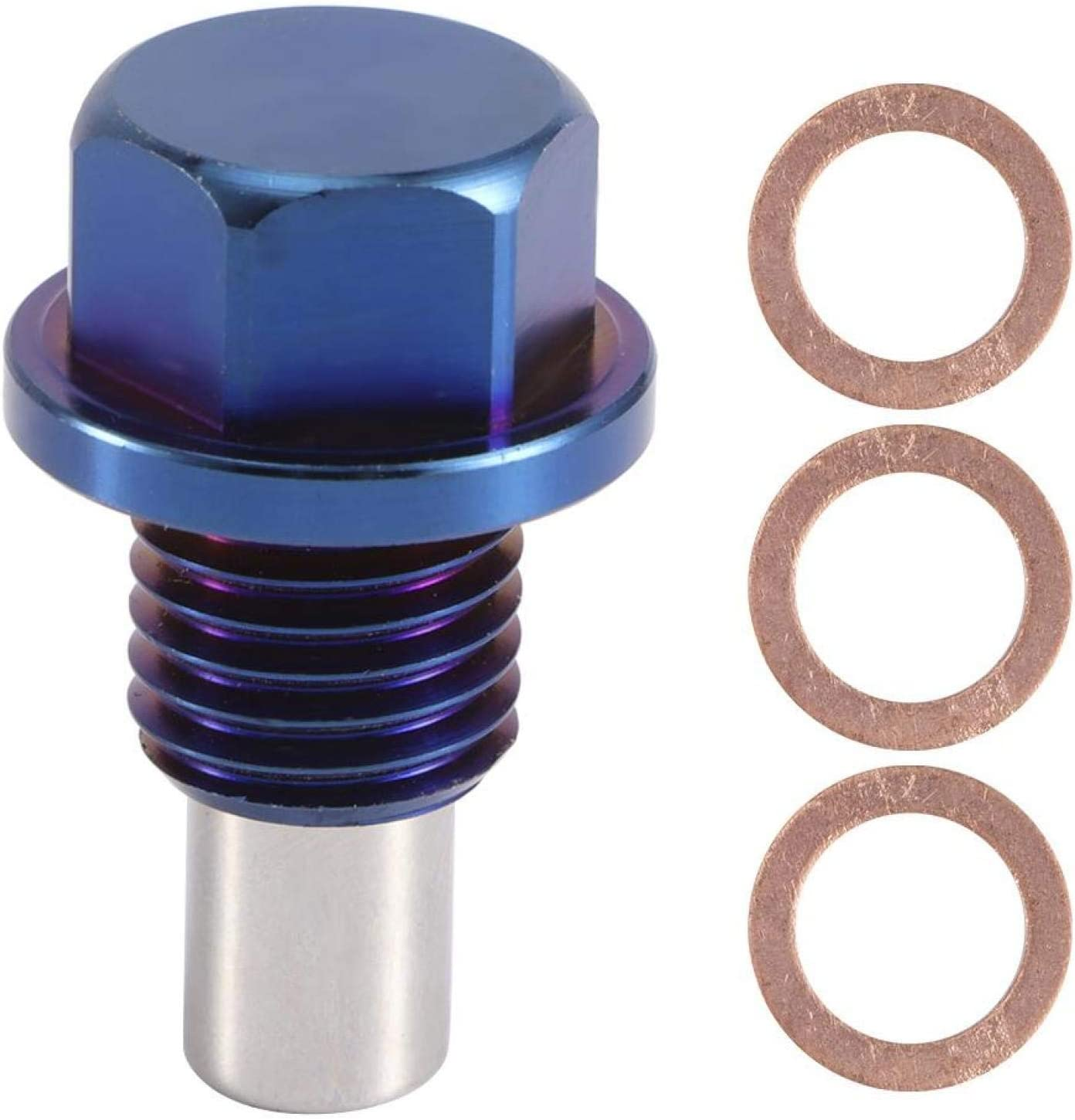 Yctze Aluminum Alloy Engine Oil White Blue Plug New color Magnetic Drain New Shipping Free