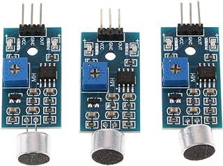 P Prettyia 3点セット 音声センサー Arduino用 サウンド検出モジュール 高感度