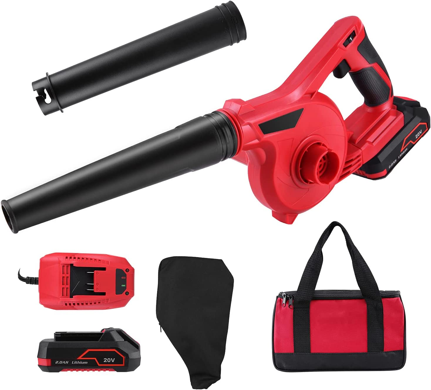 Bobique El Paso Mall Cordless Leaf Blower 20V Low price Sweep Battery V Powered 2-in-1