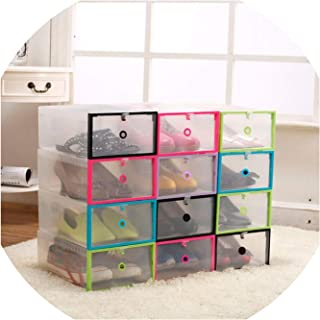 Gooding life Plastic Shoe Rack Organizer Transparent Shoe Boxes Hanger Multifunctional DIY Clamshell Storage Box Home Organization Case,Blue