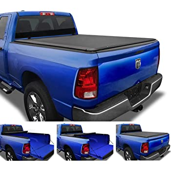 "Tyger Auto T1 Soft Roll Up Truck Bed Tonneau Cover Compatible with 2009-2018 Dodge Ram 1500 | 2019-2021 Classic Only | Fleetside 5'7"" Bed (67"") 