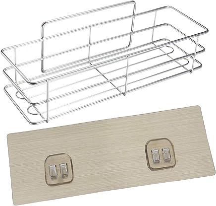 Queenwind のステンレス鋼の浴室のシャワーの台所貯蔵の棚のキャビネットのオーガナイザーの壁に取り付けられたホールダー