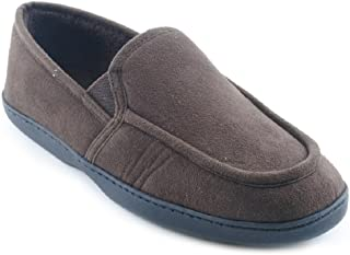 Mens Piped Polysuede Slipper