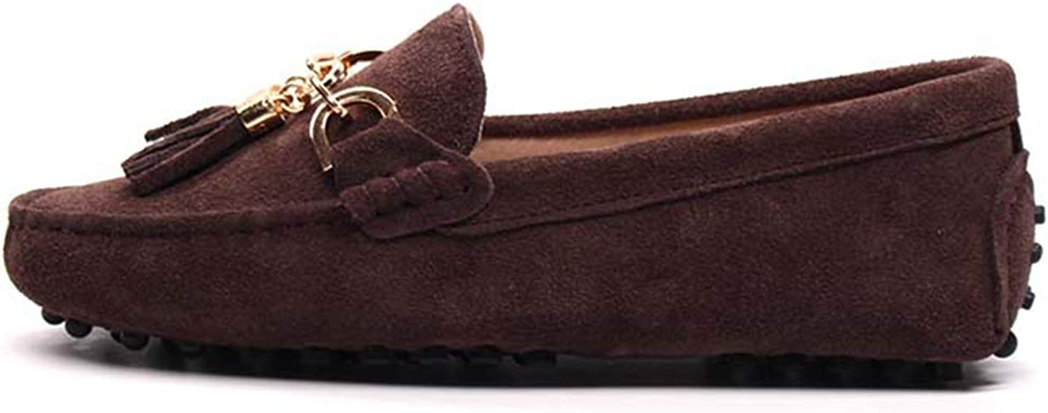 Litllin 2019 Casual Womens shoes Genuine Leather Women Loaferss Fashion Slip On Women Flats shoes Chocolate