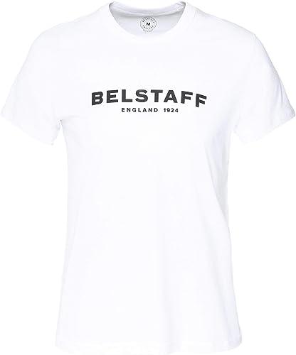 BELSTAFF Hommes col d'équipage 1924 t-Shirt Blanc