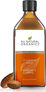 Licuri Oil by Au Natural Organics-100% Natural, Cold Pressed, Organic Face Moisturizer, Vegan- Cruelty Free-Holistic Skin Body & Nails Care, Best Dry Hair & Dark Circles Under Eye Treatment for Women