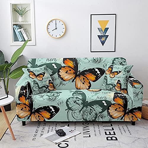 WXQY Sala de Estar Mariposa Funda de sofá Funda elástica combinación combinación elástica Funda de sofá Funda de sillón Funda de sofá A4 2 plazas