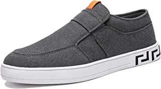 Men's Fashion Sneakers Loafers Lightweight Canvas Casual Walking Slip on Shoes