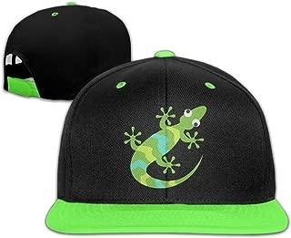 Toddler Hip Hop Baseball Cap and Hats Boy Girls Green Cute Lizard Chameleon -