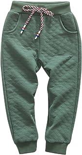 KISBINI Boy's Air Cotton Active Long Pants Sports Sweatpants for Children
