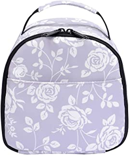 wonderful flower Insulated Lunch Box Cooler Bag lunch bag flower (MINI Grey B01)