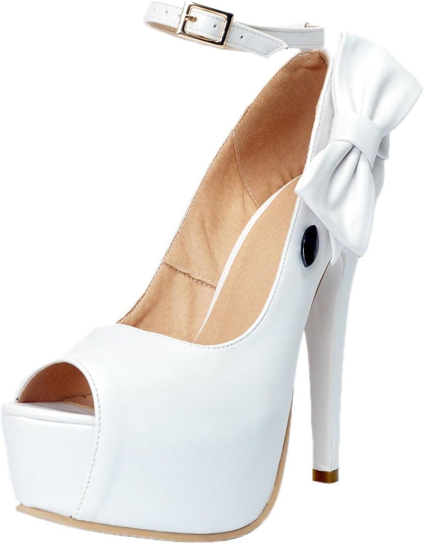 Garyline Woherrar Stiletto Heel Peep Toe Platform Ankle Ankle Ankle Strap Dress Pump skor  onlinebutik