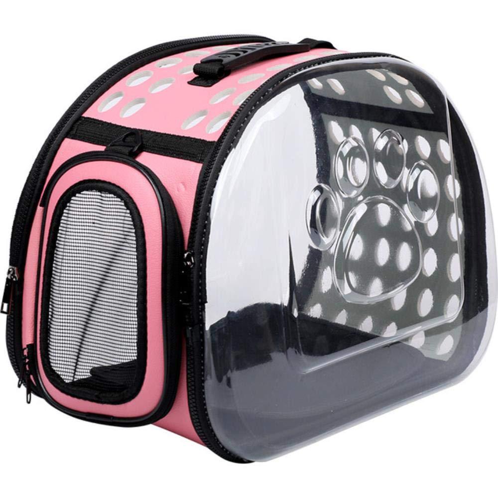 WYCYZJ Pet Dog Cat Backpack Travel Cat Carrier Double Shoulder Bag Space Capsule Cat Backpack for Bag Small Pet Handbag Cat Carrying,Pink,L40xW23xH24cm: Amazon.es: Productos para mascotas