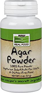 NOW Foods, Agar Pure Powder, Vegetarian Substitute for Gelatin, Gluten-free, Kosher, 2 Ounce (Pack of 1)