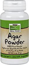 NOW Foods, Agar Pure Powder, Vegetarian Substitute for Gelatin, Gluten-free, Kosher, 2-Ounce
