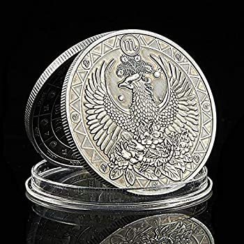 Patpaw Constellation Challenge Coin Bronze Embossed Token Creative Gift  Scorpio