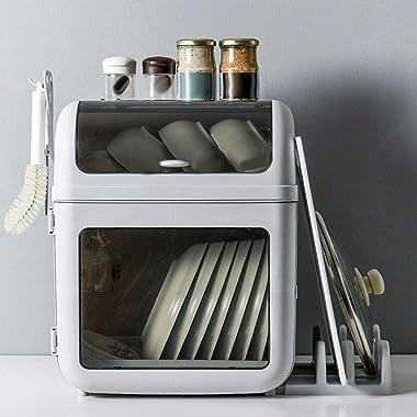 Dish Drying Rack -Multi-Functional Dish Drying Rack Cutlery Holder Dish Drainer Utensil Organizer