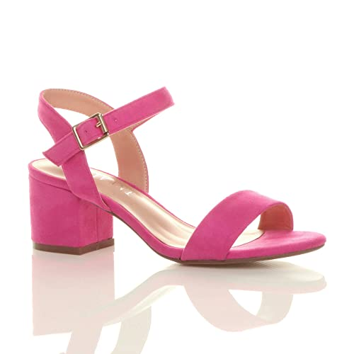 cdcb0c6c9e7 Pink Block Heel Shoes: Amazon.co.uk